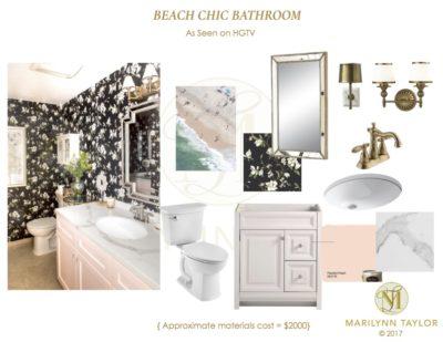 HGTV Blush & Black bathroom cover