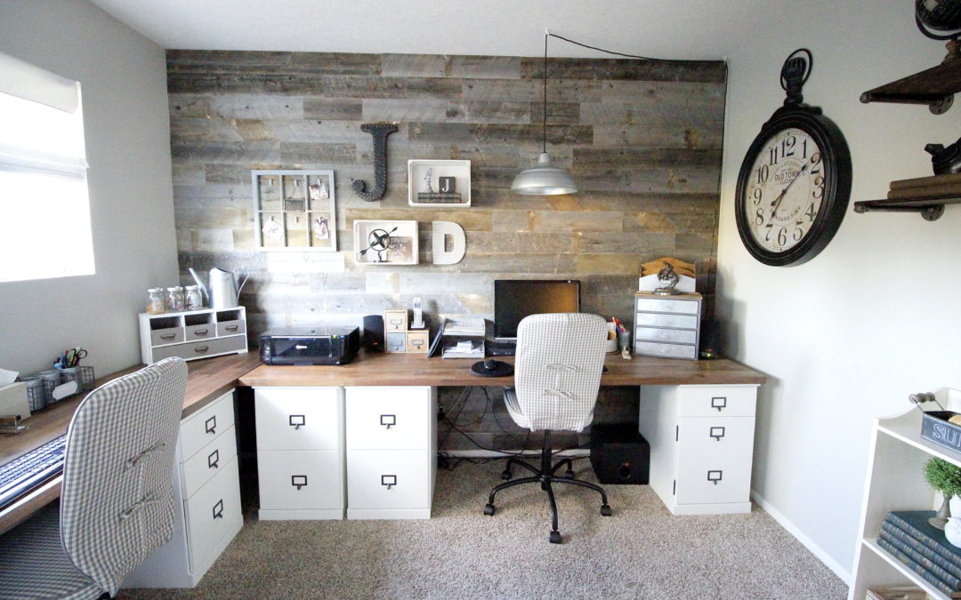 A Farmhouse Inspired Office For Two Marilynn Taylor Diy