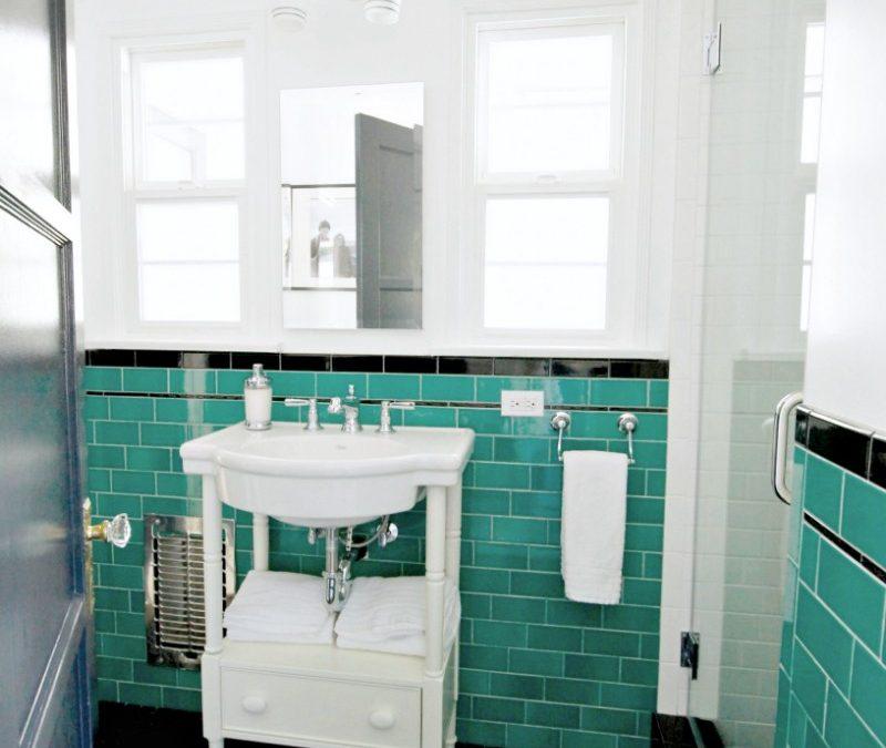 Pasadena house green bathroom marilynn taylor design for Bathroom design consultant