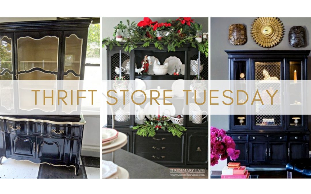 Thrift Store Tues Ep. 6  Quick Campaign Furniture U0026 DIY China Cabinet  Makeover Inspiration
