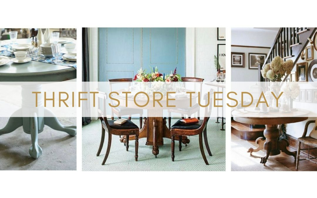 Thrift Store Tuesday Ep 9 – How to use a vintage pedestal table in your interior design