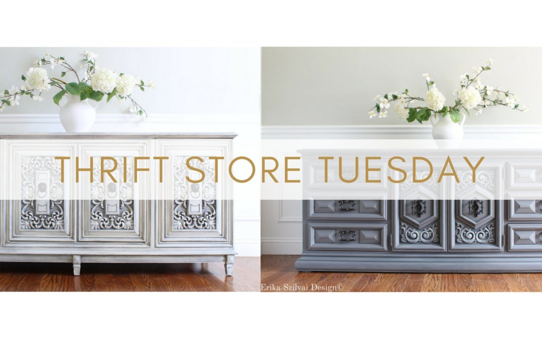 Thrift Store Tues Ep 8 – Makeover inspiration for Vintage Credenza & MCM Dresser