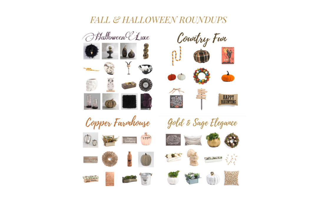 Fall & Halloween Decor Roundups!
