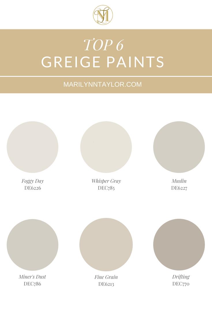 Top Greige Paint Colors