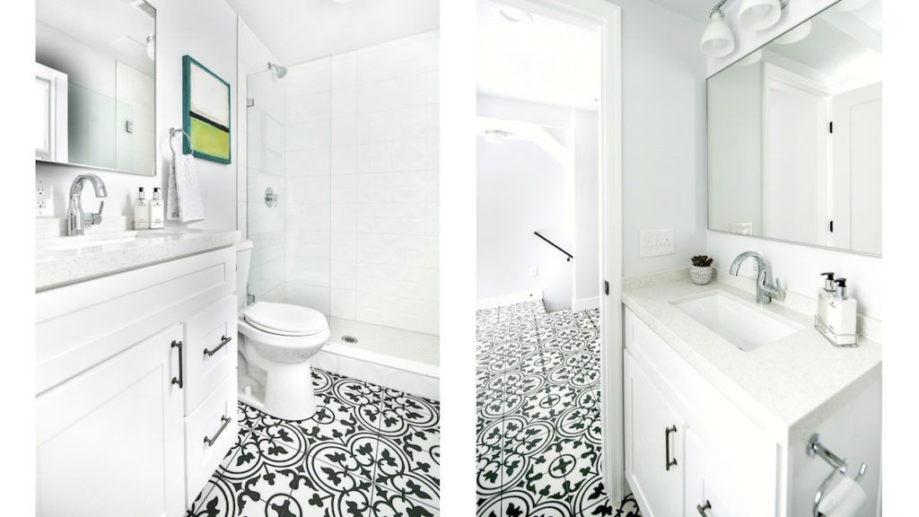 black and white, moroccan tile, retro, House flip, orange county, los angeles, nationwide, e-design, real estate services, design consultant, Crum, nitro circus, flippers, chip and joanna gaines
