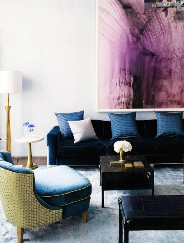 navy, magenta, jewel tones, Marilyn Taylor, Marilynn Taylor, Mercedes, purple, art wall, Pantone, 2018, color of the year, purple, violet, interior design, interiors