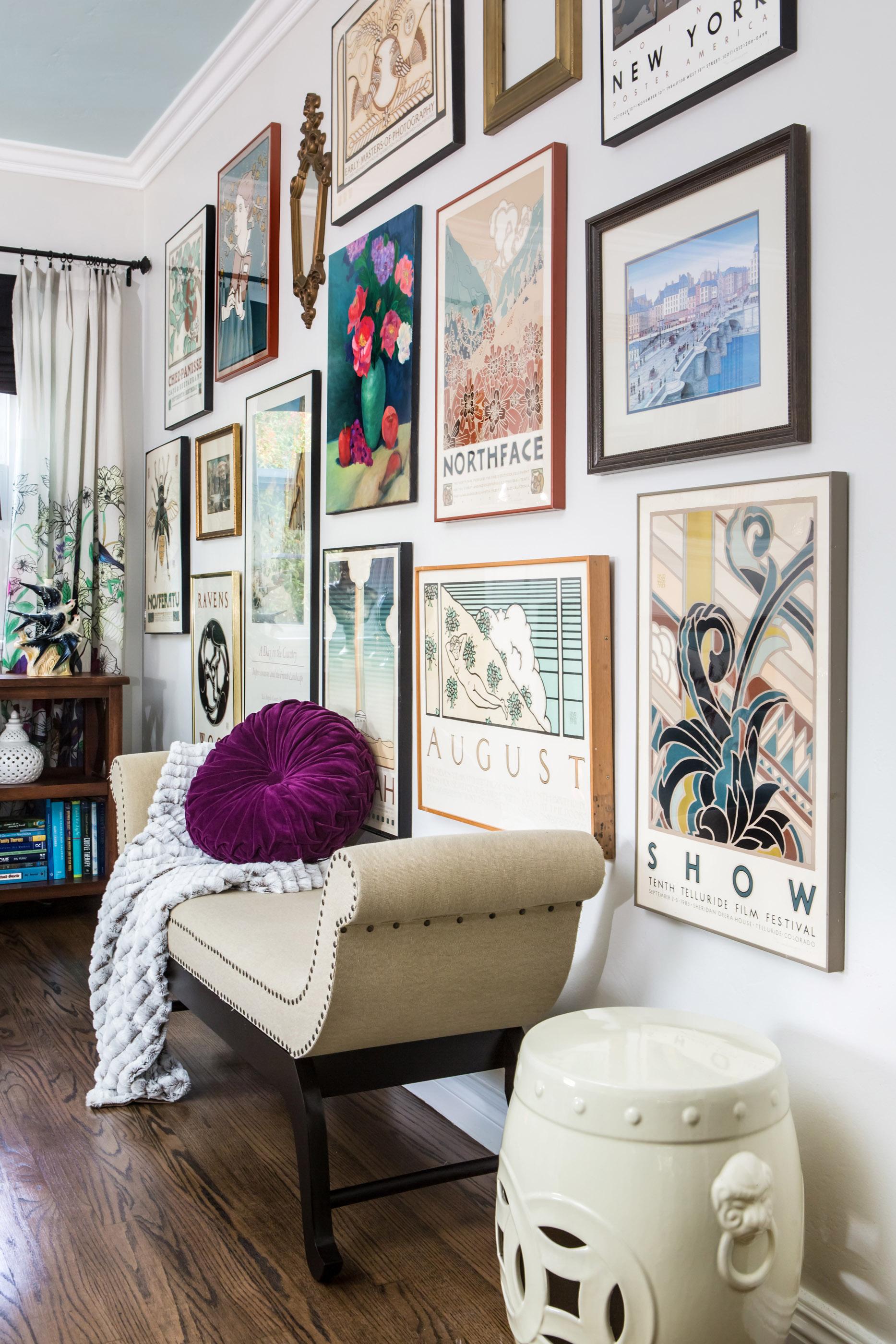 Marilyn Taylor, Marilynn Taylor, Mercedes, purple, art wall, Pantone, 2018, color of the year, purple, violet, interior design, interiors