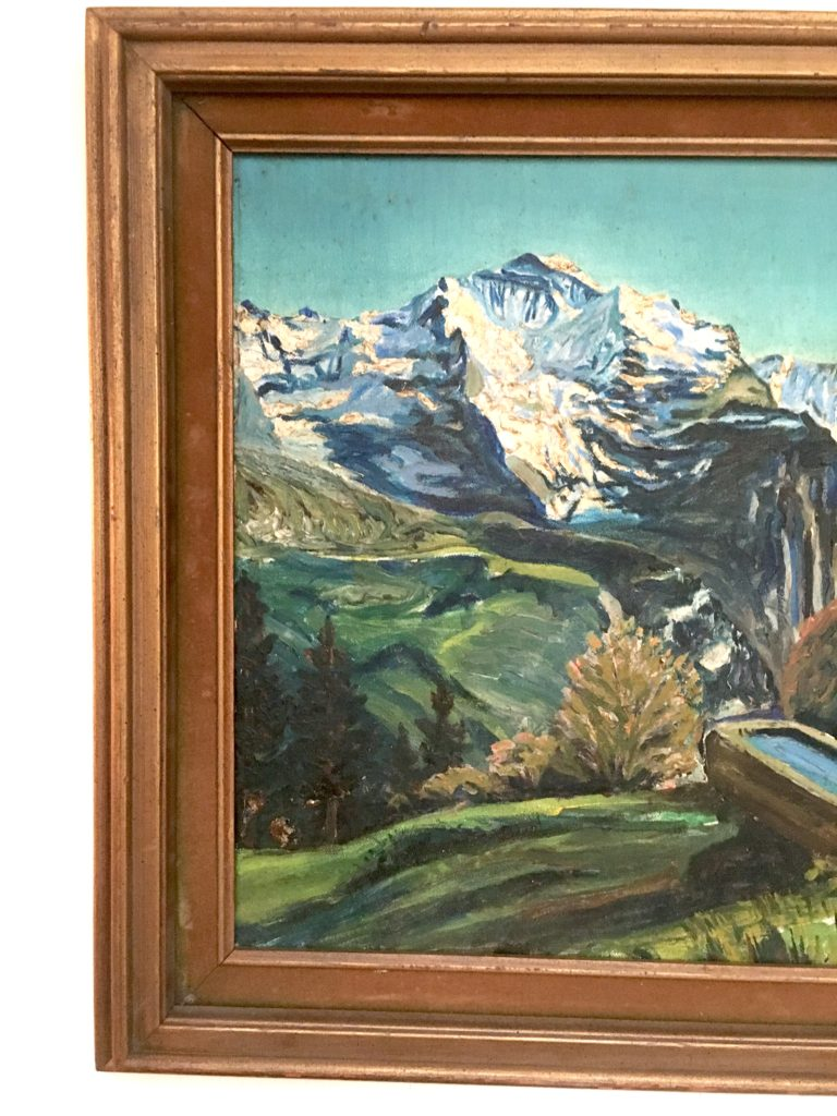 oil painting repair, fix a tear, vintage art, thrifting, landscape art, DIY art repair, DIY, vintage art, thrifter, vintage decor, marilynn taylor, marilyn taylor, how to, tutorial, fix a painting,
