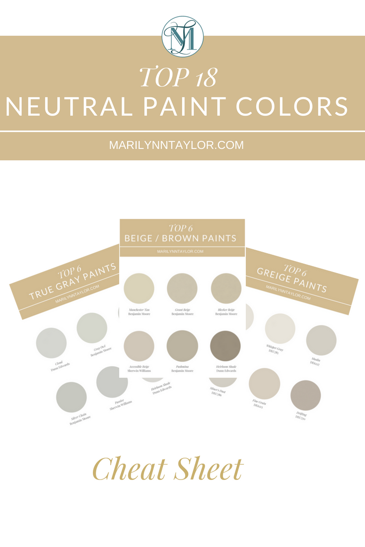 Top 18 Neutral Paint Colors Cheat Sheet Marilynn Taylor