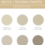marilyn taylor, interior designer, consultant, los angeles, neutral paint, dunn edwards, top 6, tan paint, brown paint, beige paint, colors, marilynn taylor